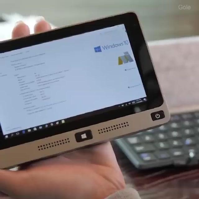اصغر كمبيوتر محمول يعمل بنظام ويندوز 10 ويدعم اندرويد