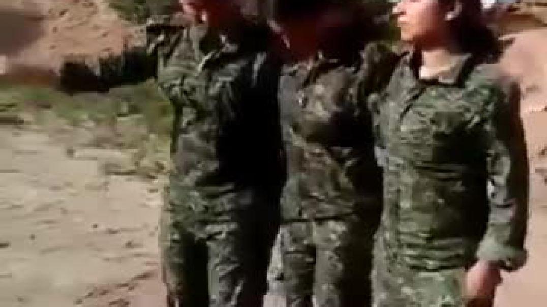 رقص بنات على زامل حوثي