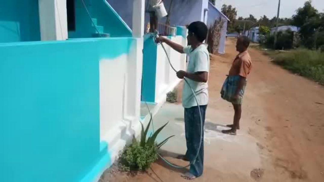 شاهد اسرع العمال بلعالم Tamil house sparay painting