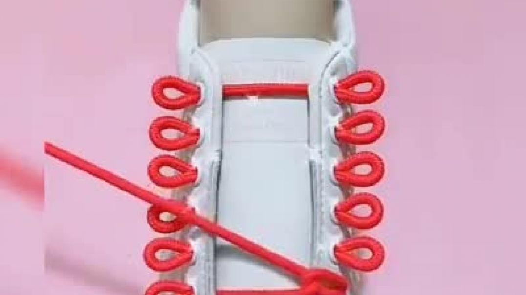 كيفية ربط أربطة الحذاء بطريقة جديدة