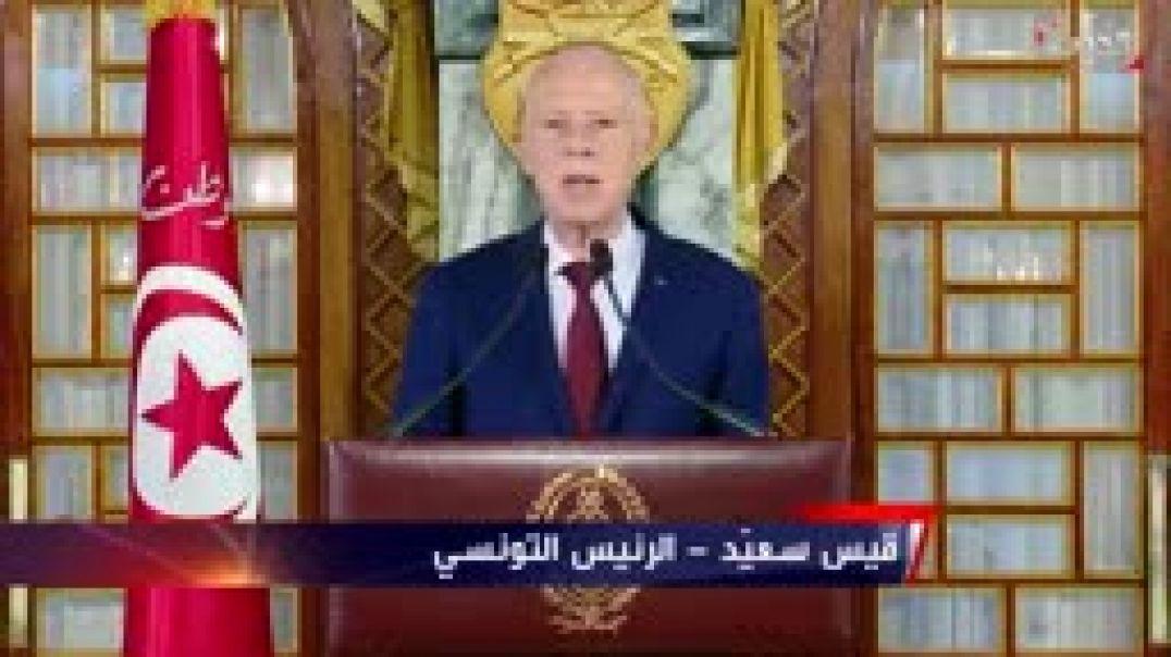 خطاب الرئيس التونسي يحذر من خطورة فيروس كورونا