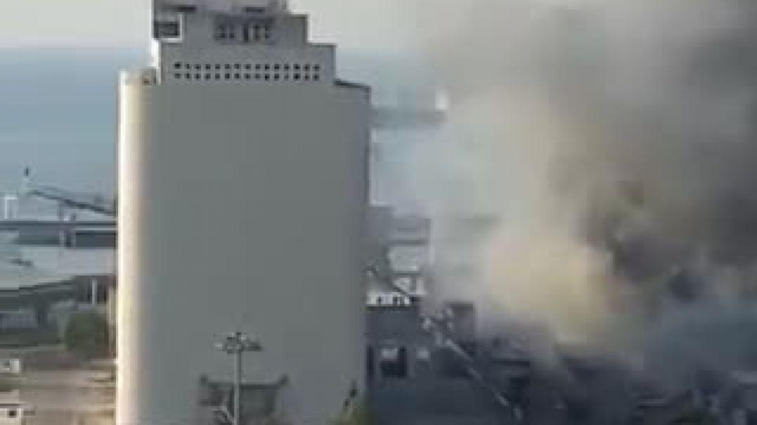 اقرب تصوير للحظة انفجار بيروت المرعب