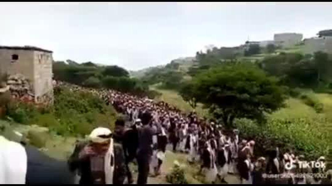 جنازة الشهيد عبدالله الأغبري رحمه الله